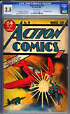 Action Comics #10CGC 2.5 ow