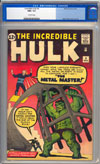 Incredible Hulk #6CGC 9.6 ow