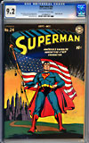 Superman #24CGC 9.2 ow/w