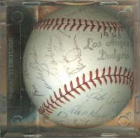1963 Dodgers Champs Team-Signed Ball